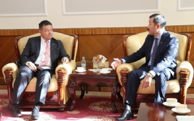 MINISTER J.BAT-ERDENE MEETS AMBASSADOR OF TURKEY TO MONGOLIA