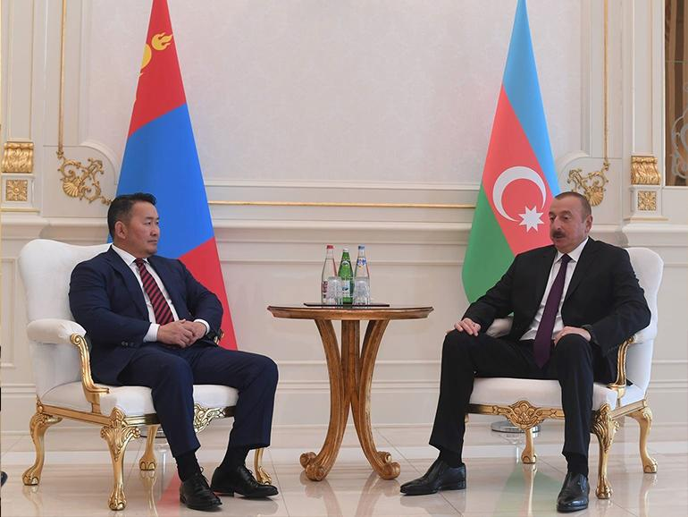 PRESIDENT OF MONGOLIA PAYS A WORKING VISIT TO AZERBAIJAN