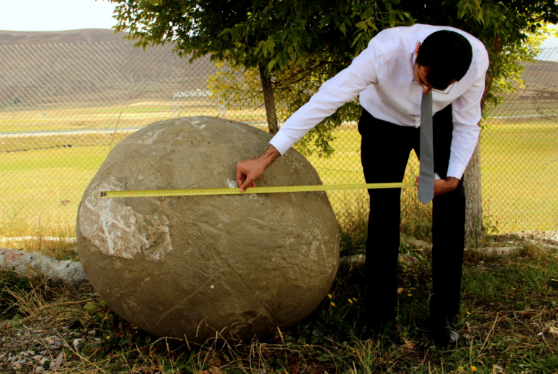 MASSIVE STONE BALL USED BY MONGOLS FOUND IN ERZURUM, TURKEY