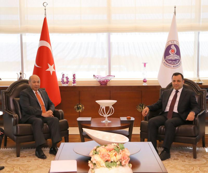 Ambassador paid a courtesy call on President of the Constitutional Court of Turkey
