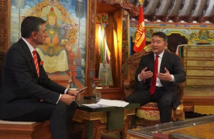 EXCLUSIVE INTERVIEW OF THE PRESIDENT OF MONGOLIA FOR THE TURKISH TRT AVAZ CHANNEL