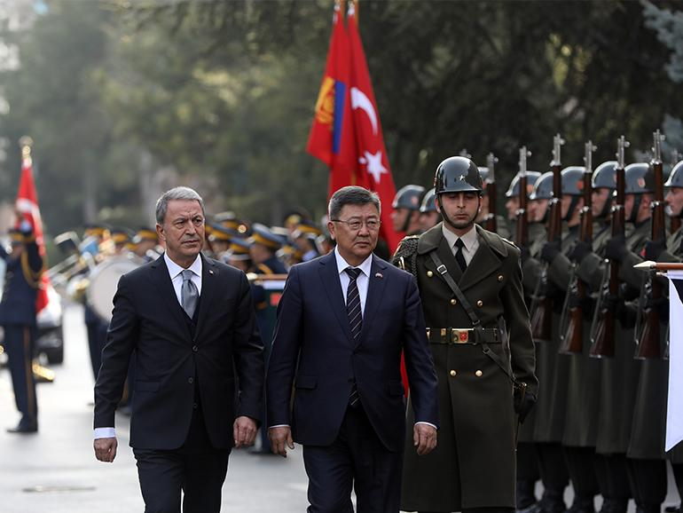 MINISTER OF DEFENSE OF MONGOLIA PAYS AN OFFICIAL VISIT TO TURKEY