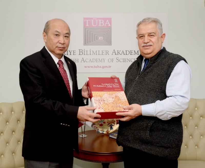 AMBASSADOR MEETS WITH PRESIDENT OF TURKISH ACADEMY OF SCIENCES (TÜBA)